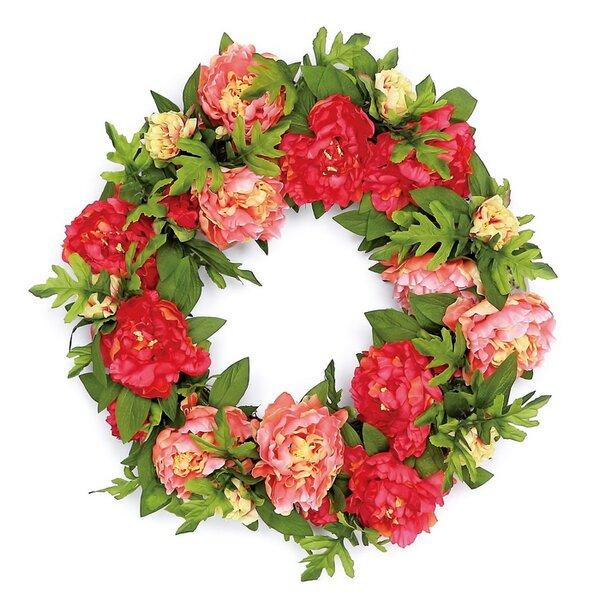 Luxurious Peony Blossom 24 Polysilk Wreath By Ophelia Co.