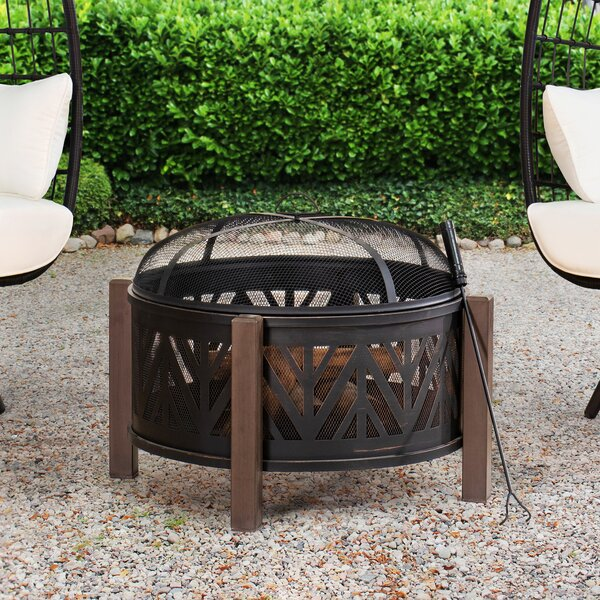 Aghi Steel Wood Burning Fire Pit By Latitude Run