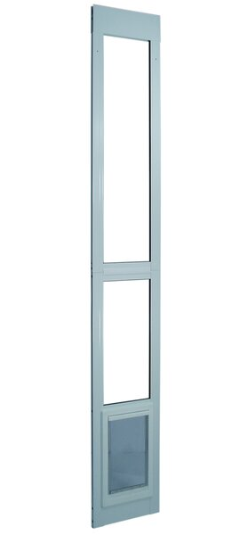 11-1/2 X 77-5/8-80-3/8 Medium White Modular Pet Patio Door by Perfect Pet by Ideal