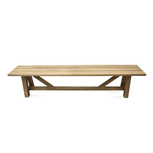 Alvah Wooden Picnic Bench by Rosecliff Heights Rosecliff Heights