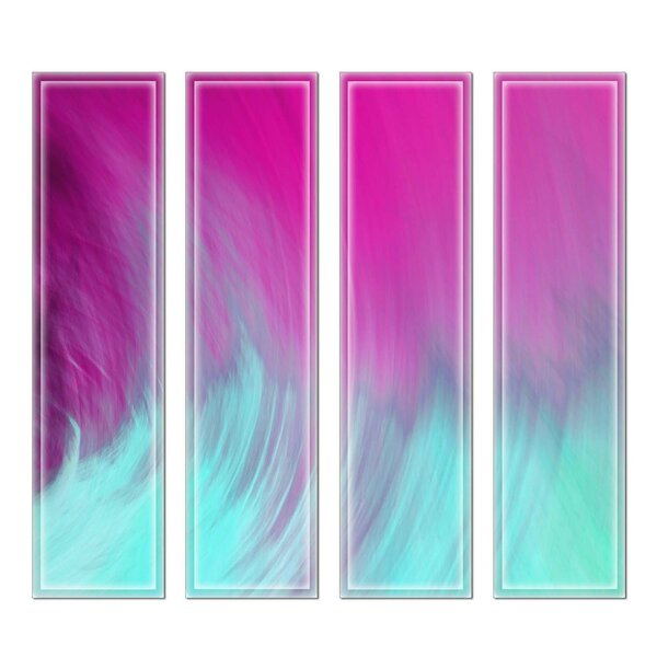 Crystal 3 x 12 Beveled Glass Subway Tile in Pink/Blue by Upscale Designs by EMA