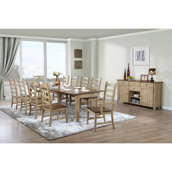 Huerfano Valley 12 Piece Extendable Solid Wood Dining Set by Loon Peak