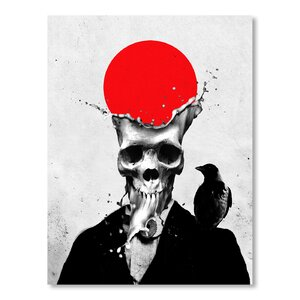 'Ali Gulec Splash Skull' Graphic Art by East Urban Home
