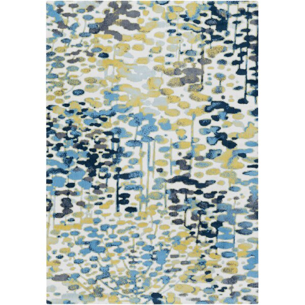 Ladson Yellow/Blue Area Rug by Wrought Studio