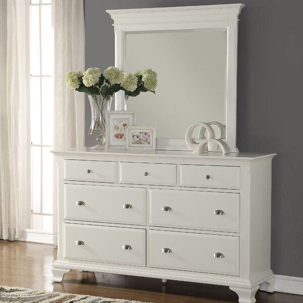 Shenk 7 Drawer Dresser with Mirror by Winston Porter