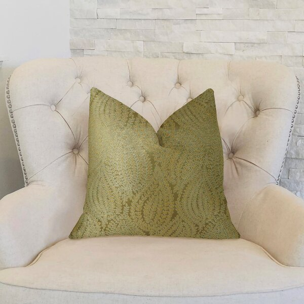 Leaf Pod Handmade Throw Pillow by Plutus Brands