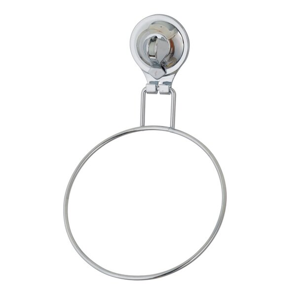 Popular Tailor Locking Suction Cup Wall Mounted Bathroom Towel Ring by Sweet Home Collection