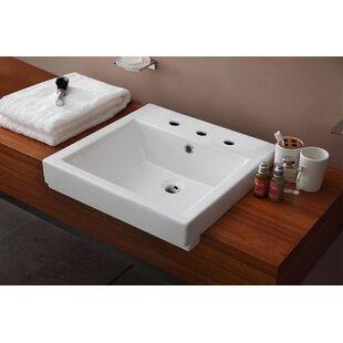 Inexpensive Ceramic Rectangular Vessel Bathroom Sink with Overflow ByRoyal Purple Bath Kitchen