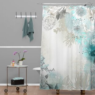 Charmant Holley Seafoam Extra Long Shower Curtain