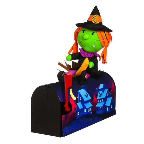 18 Witch on The Broom Magnetic Mailbox Cover by Ev