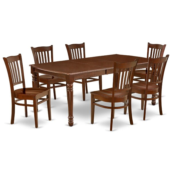 Lavern 7 Piece Extendable Solid Wood Dining Set