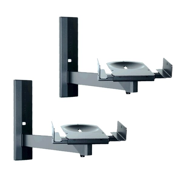 Side Clamping Bookshelf Speaker Wall Mount (Set of 2) by Pinpoint Mounts