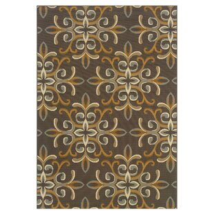 Best Reviews Milltown Grey/Gold Indoor/Outdoor Area Rug By Threadbind