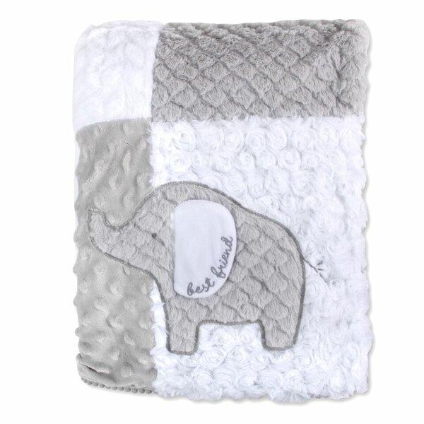 Vidya Polyester Patchwork Elephant Blanket by Harriet Bee