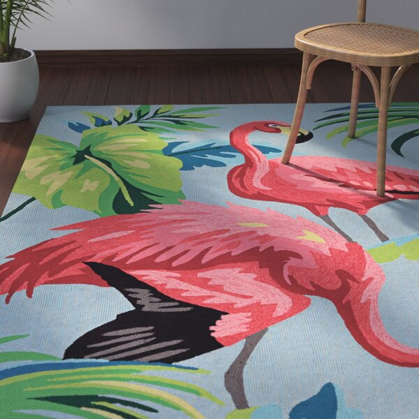 Wallingford Hand Hooked Red/Green/Blue Indoor/Outdoor Area Rug by Bay Isle Home