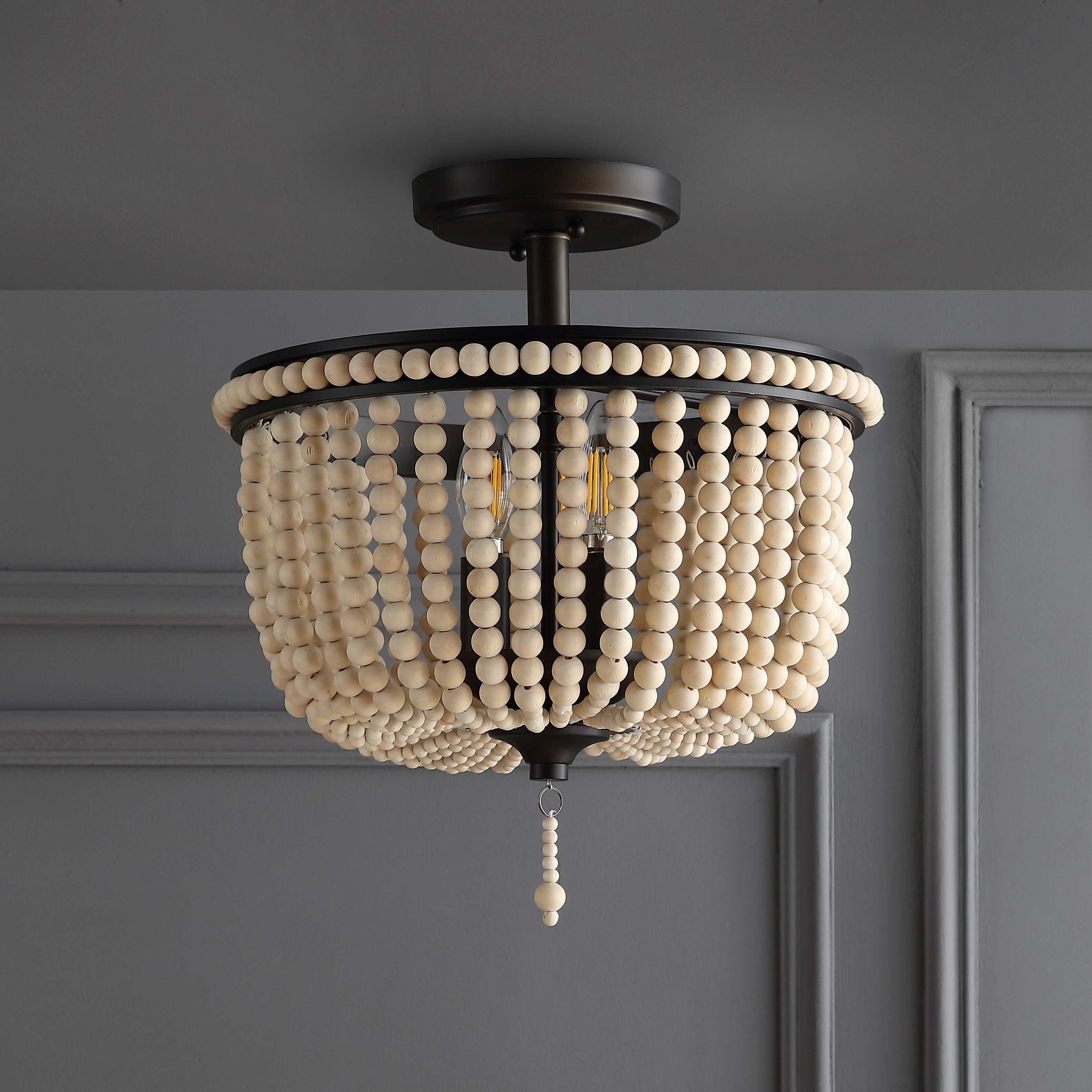 Bungalow Rose Tawanda 3 Light 14 Unique Statement Geometric Semi Flush Mount Reviews Wayfair Ca