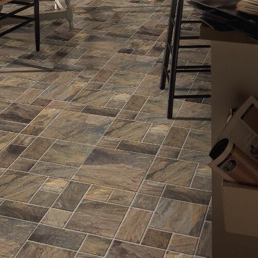 Stones and Ceramics 15.945 x 47.756 x 8mm Tile Laminate Flooring in Porto Alegre Amber by Armstrong Flooring