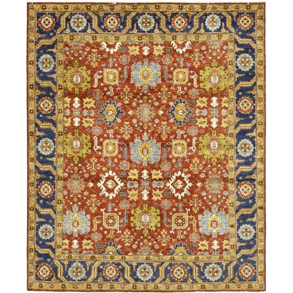 One-of-a-Kind Devaney Hand-Knotted Wool Yellow/Red Indoor Area Rug by Isabelline