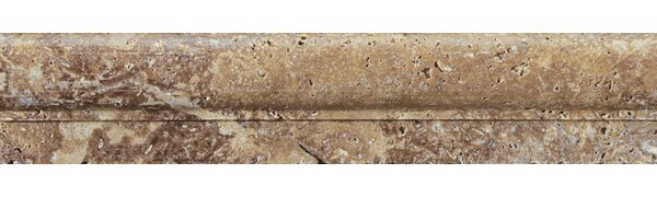 Natural Stone Cornice Moulding 2 x 12 Travertine Speciality Exterior Tile Trim in Mocha by Emser Tile