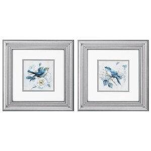 'Morning Song' 2 Piece Framed Painting Print Set by Ophelia & Co.