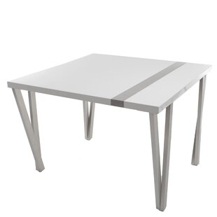 Eve High Gloss Lacquer And Brushed Stainless Steel Pub Table