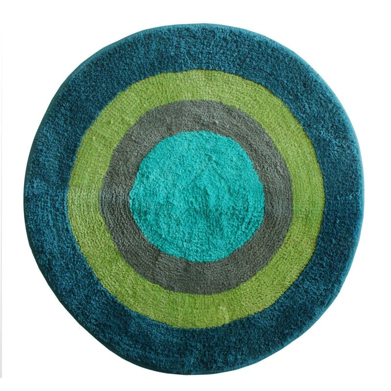 white mat round with small black rug rugs large cute stylish bathroom mats cotton bath mesmerizing