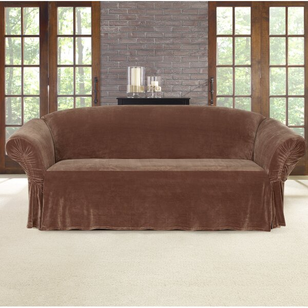 Stretch Plush Box Cushion Sofa Slipcover by Sure Fit