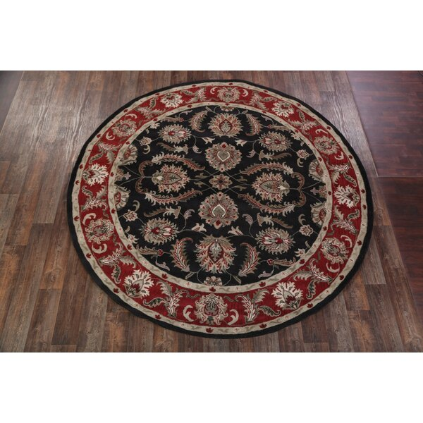 One-of-a-Kind Batson Oushak Oriental Hand-Tufted Wool Black Area Rug by Canora Grey
