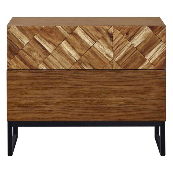 Lillomarka Bedside 2 Drawer Nightstand by Control Brand
