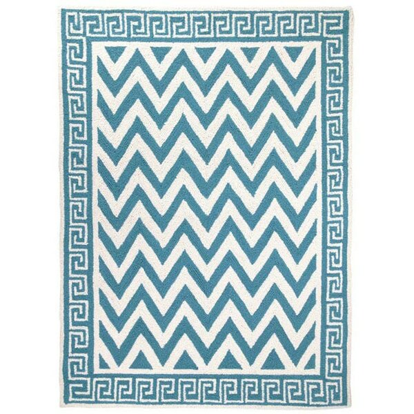 Melrose Hand-Hooked Turquoise Area Rug by Peking Handicraft