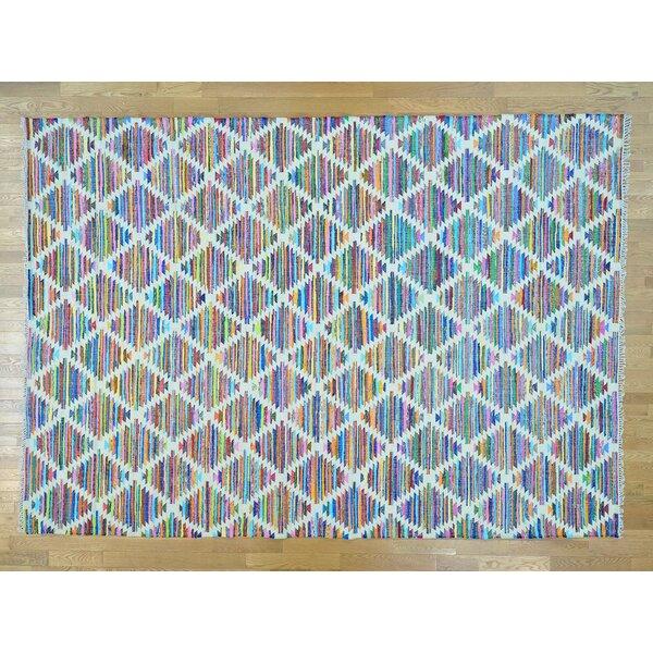 One-of-a-Kind Boyles Geometric Design Handmade Kilim Wool Area Rug by Isabelline
