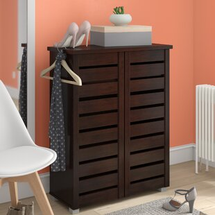 Affordable 15-Pair Shoe Storage Cabinet By Rebrilliant