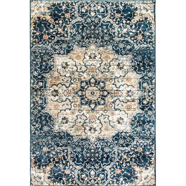 Cortes Navy Area Rug by Bungalow Rose
