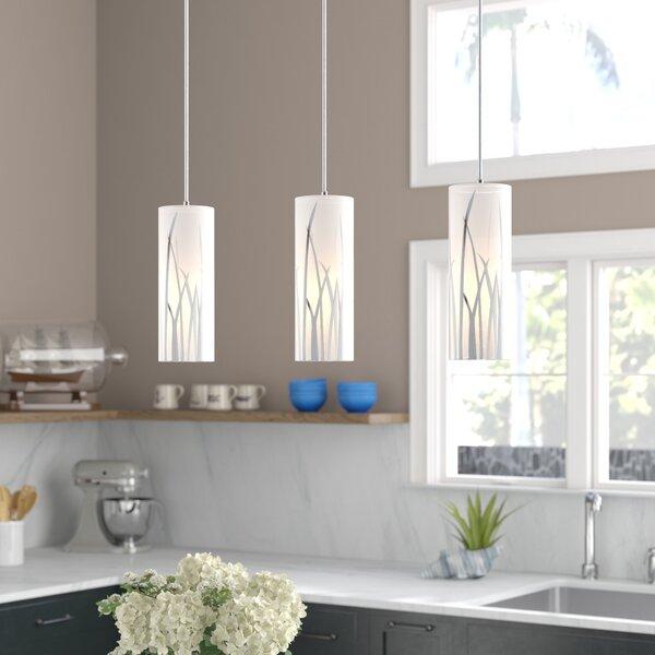 Bayou Breeze Lavanna 3 Light Kitchen Island Cylinder Pendant Reviews Wayfair