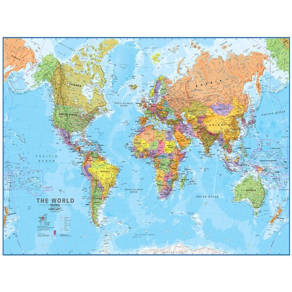 World Mega Map 1:20 Laminated Wall Map by Waypoint Geographic