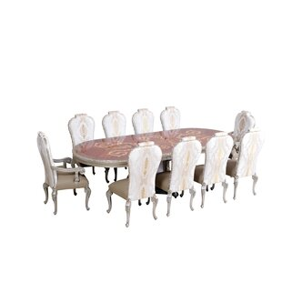 Phaedra Removable 9 Piece Leaf Solid Wood Dining Set by Astoria Grand