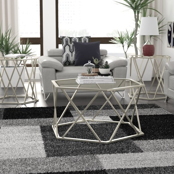 Howard 3 Piece Coffee Table Set by Orren Ellis