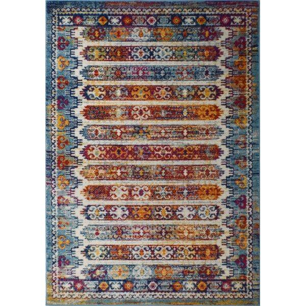 Michaela Brown/Blue Area Rug by Bungalow Rose