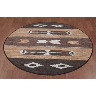 Sandford Flatweave Leather Chindi Brown Area Rug by Union Rustic