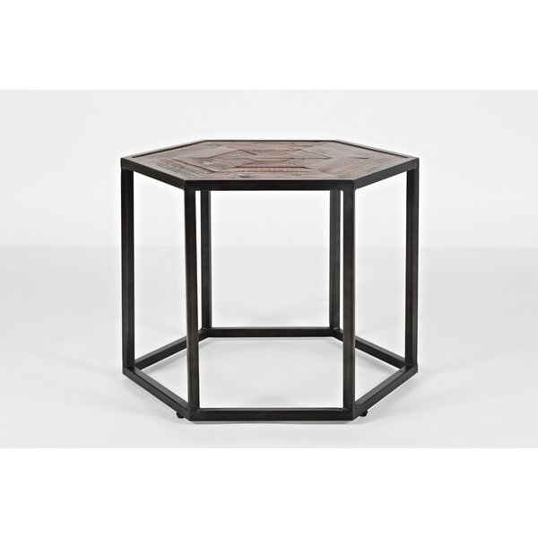 Connally Wood and Metal Coffee Table by Union Rustic