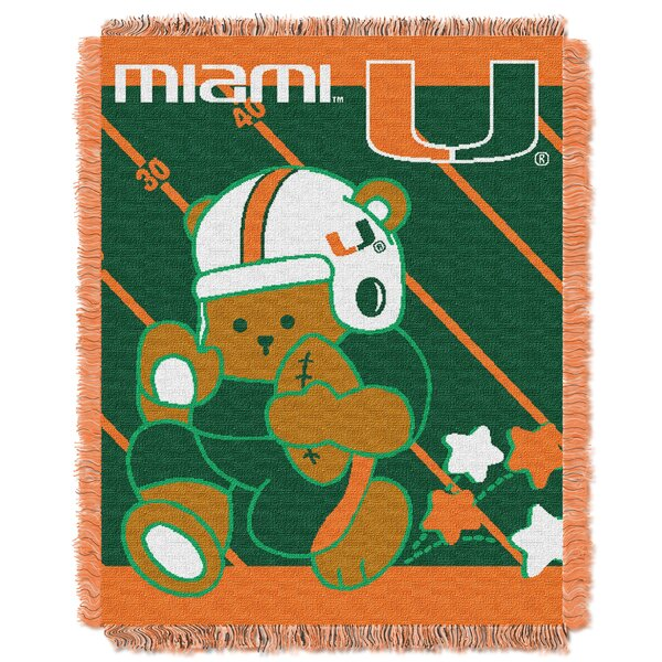 Collegiate Miami Baby Throw by Northwest Co.
