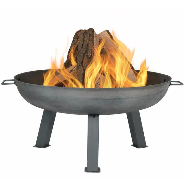 Buehler Rustic Cast Iron Wood Burning Fire Pit by Union Rustic