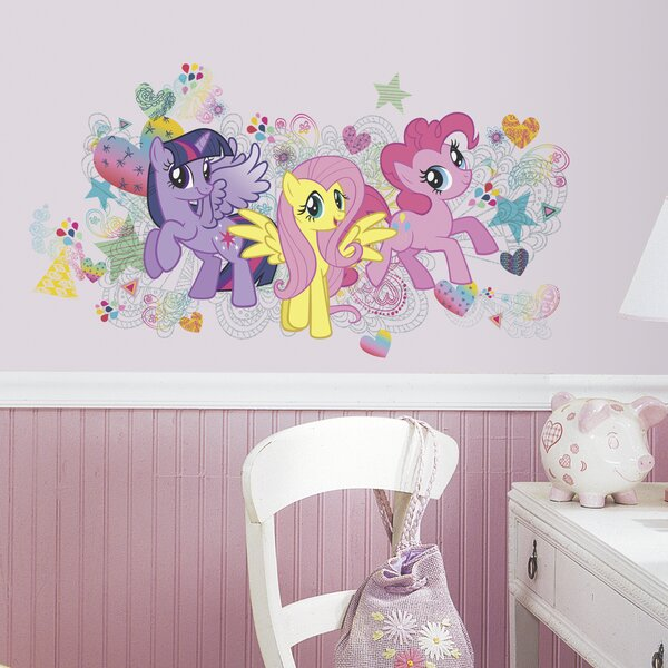 Popular Characters 6 Piece My Little Pony Wall Decal by Room Mates