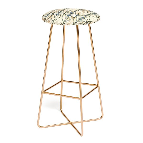 Marta Barragan Camarasa Art Deco 30 Bar Stool by East Urban Home