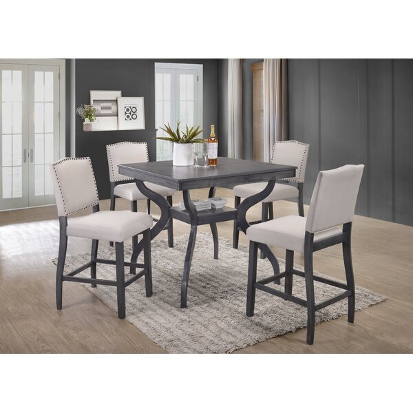 Darby Home Co Campton 5 Piece Counter Height Dining Set Reviews Wayfair