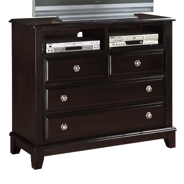 Holzman 4 Drawer Media Chest by Alcott Hill