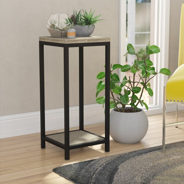 Brushed Gray Bamboo Plant Stand by Ebern Designs