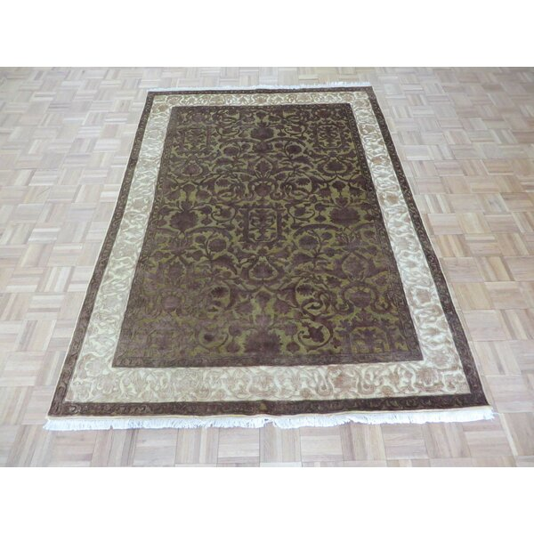 One-of-a-Kind Josephson Hand-Knotted Wool Gold/Brown Area Rug by Canora Grey