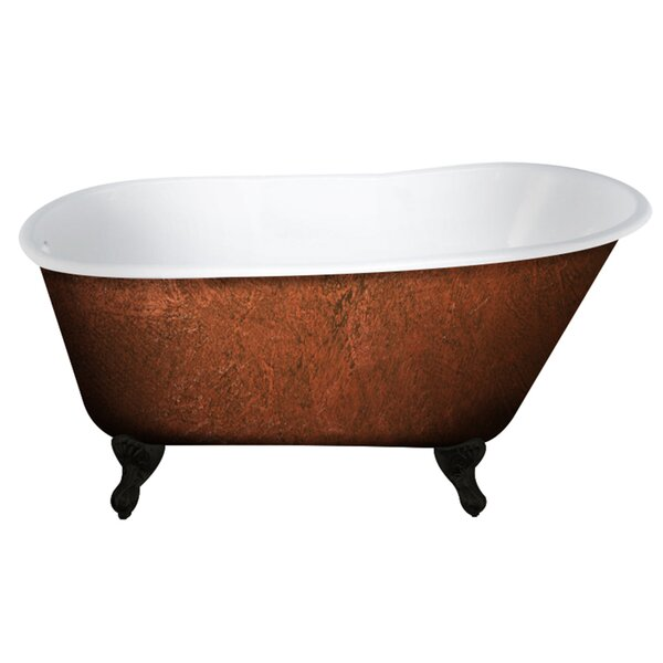 Cast Iron Clawfoot 58 x 30 Freestanding Soaking Bathtub by Cambridge Plumbing