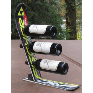 Snow 3 Bottle Tabletop Wine Rack by Ski Chair